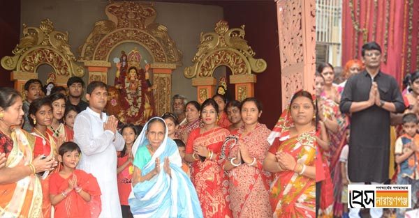 নতুন পালপাড়ায় কৃষ্ণ আচার্যের উদ্যোগে জগধাত্রী পূজা