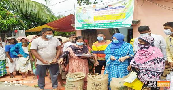 ১০ টাকা কেজি চাল বিক্রির কার্যক্রম উদ্বোধনে বন্দর ইউএনও