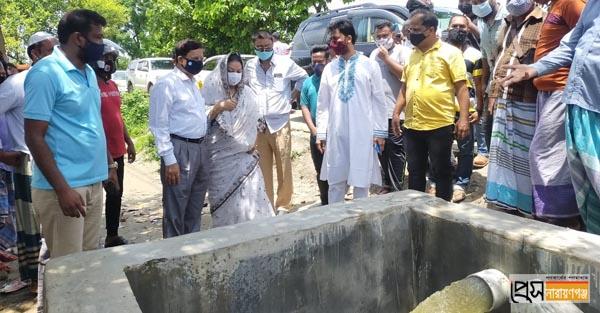 রূপগঞ্জে পাম্প হাউজ পরিদর্শনে মন্ত্রী গাজী