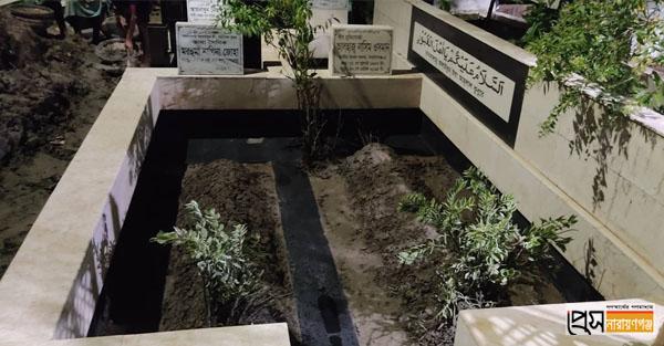 শামীম ওসমানের স্বজনদের কবর থেকে সেই মাটি অপসারণ